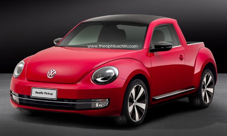 Volkswagen Beetle Pickup Rendered... Again