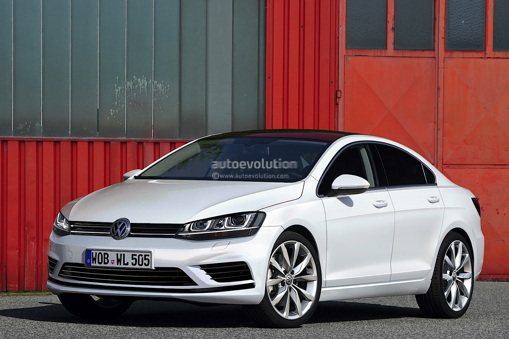 volkswagen golf cc rendered coming in 2015 autoevolution. Black Bedroom Furniture Sets. Home Design Ideas