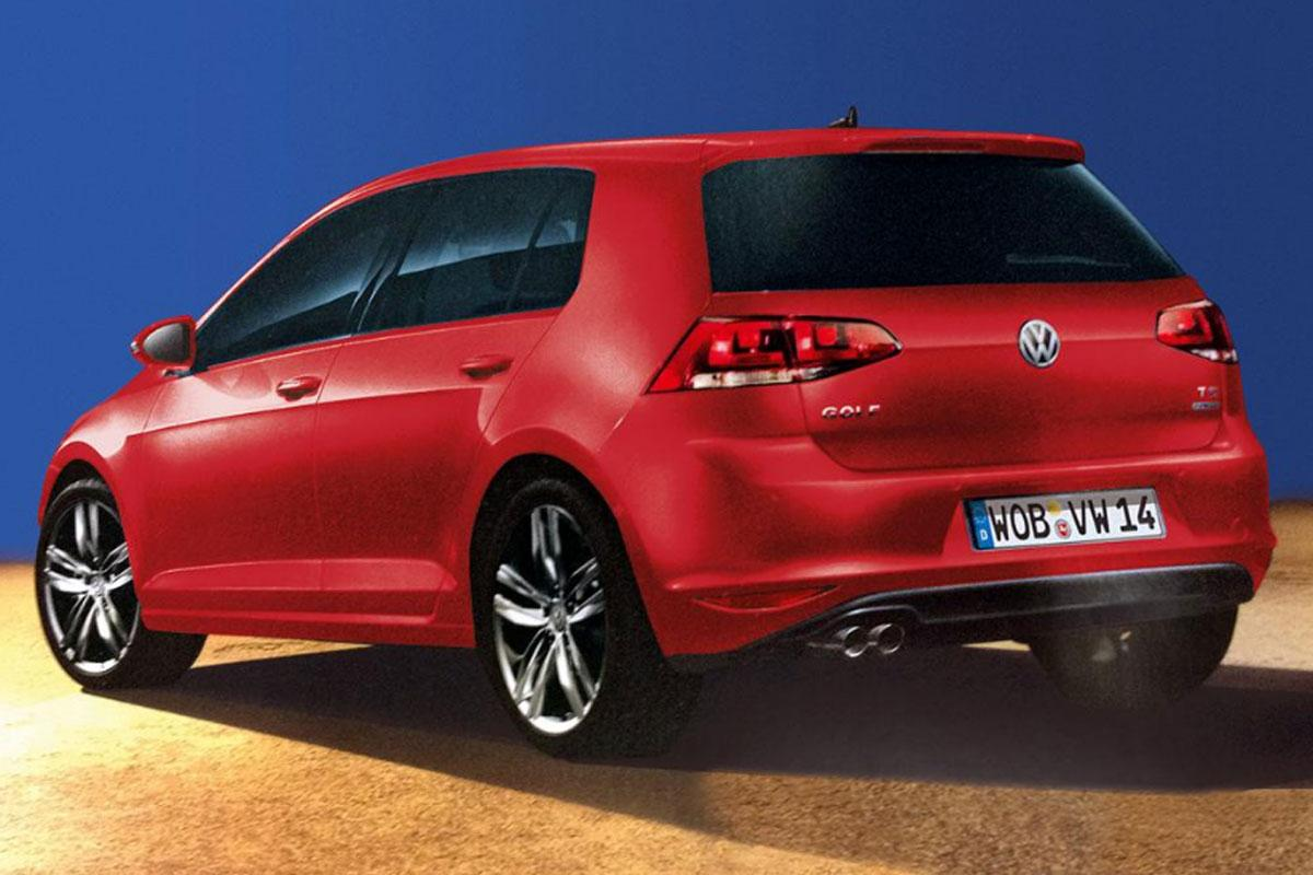 volkswagen golf vii first images leaked updated autoevolution. Black Bedroom Furniture Sets. Home Design Ideas