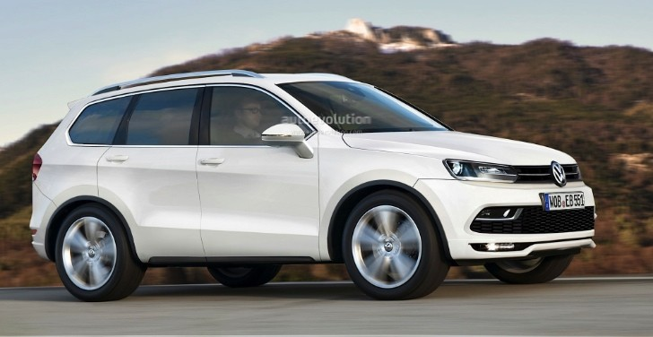 Volkswagen Mid-Size SUV for the US Rendered - autoevolution