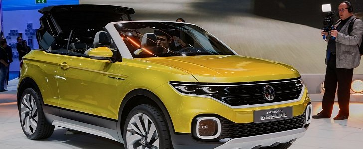 volkswagen t cross breeze crosses a polo with a range rover evoque convertible autoevolution. Black Bedroom Furniture Sets. Home Design Ideas
