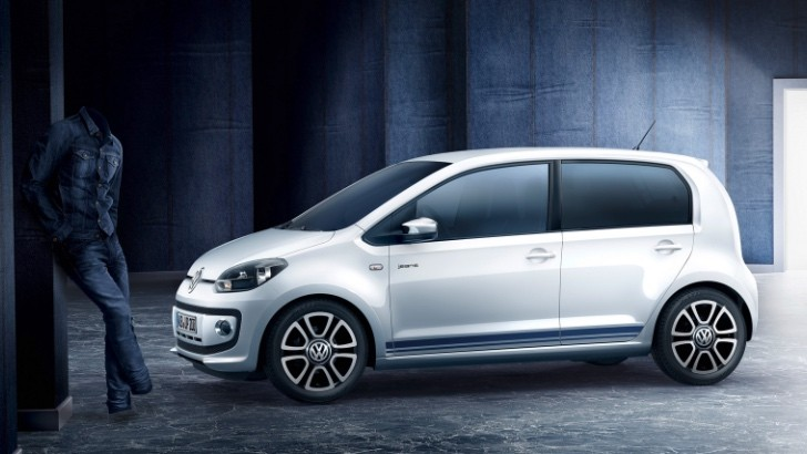 volkswagen up gets jeans special edition instantly becomes cool autoevolution. Black Bedroom Furniture Sets. Home Design Ideas
