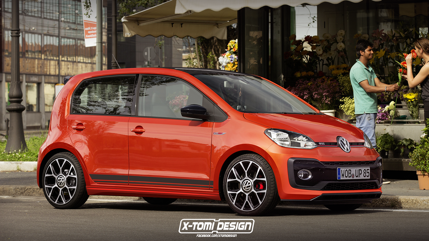 volkswagen up gti rendered as a 5 door plus some. Black Bedroom Furniture Sets. Home Design Ideas