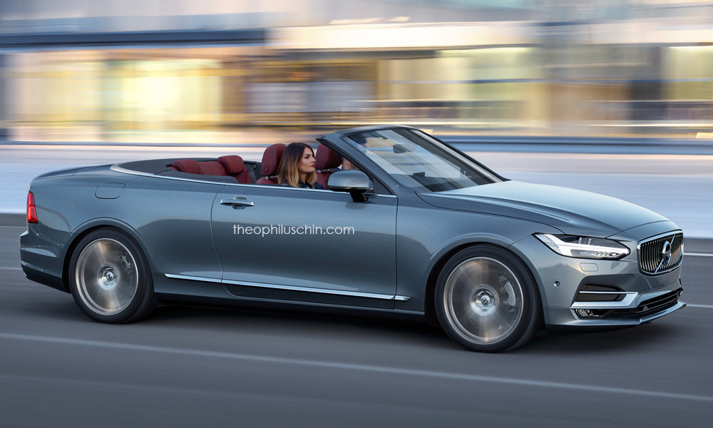 Volvo C70 Convertible Rendering Has Cloth Top and S90 Styling ...