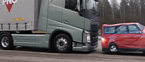 Volvo Demonstrates AEB Efficiency on FH 18-Wheeler [Video]