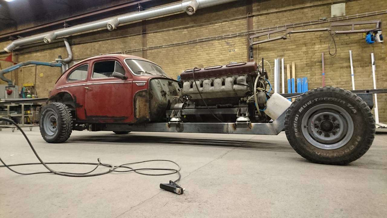 Volvo Pv544 With A Tank Sourced 38 8 Liter V12 Is Not Your Ordinary