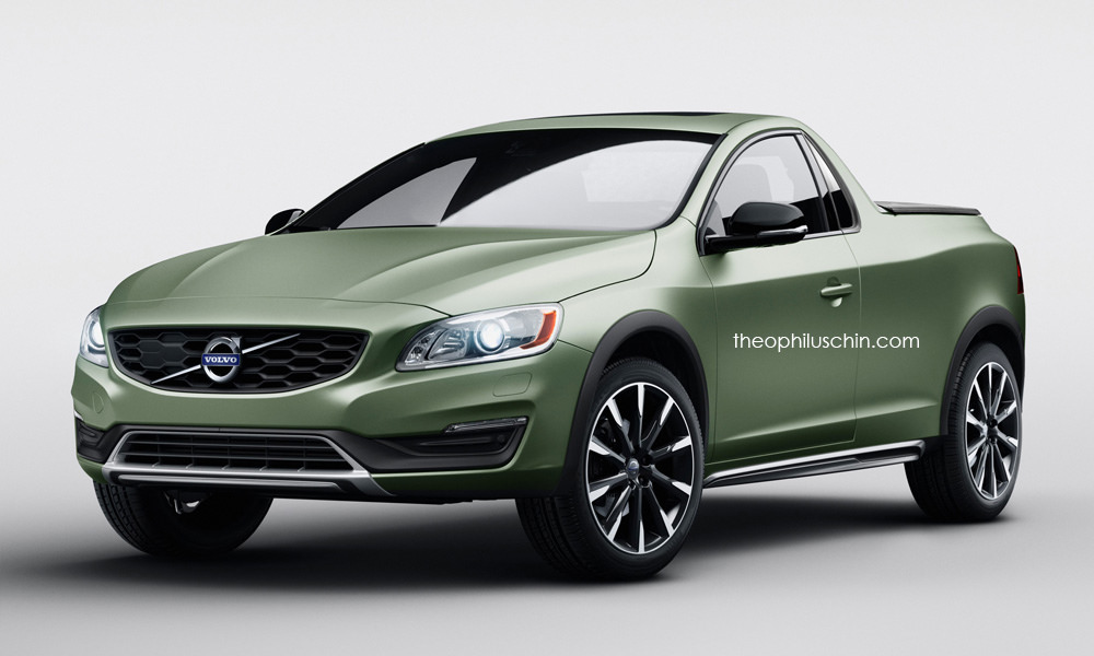 volvo s60 2door pickup is a stunning idea that will never