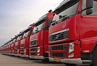 Nijhof-Wassink's fleet of Volvo trucks