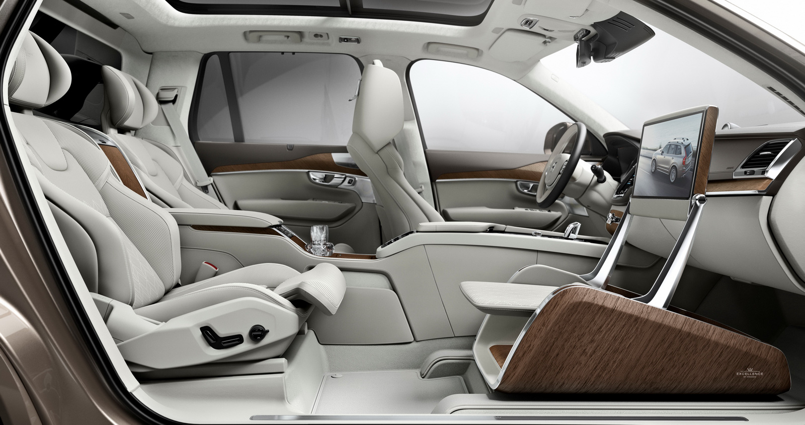 volvo redefines luxury with the lounge console for the xc90 suv autoevolution. Black Bedroom Furniture Sets. Home Design Ideas