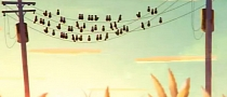 Volvo V40 Teaser Video: Birds on a Wire