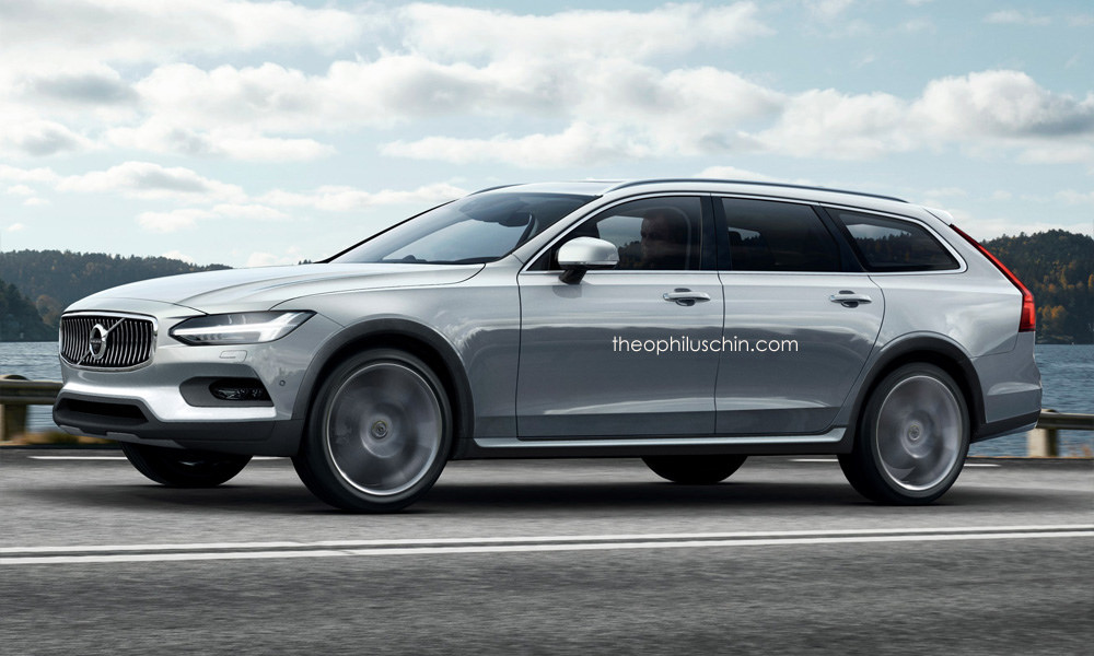volvo v90 cross country rendered should become reality autoevolution. Black Bedroom Furniture Sets. Home Design Ideas