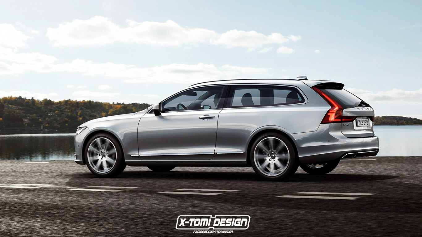 Volvo V90 Shooting Brake Rendering Shows Another Beautiful Volvo We Won't Get - autoevolution