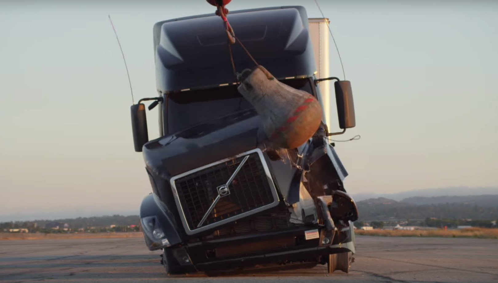 Volvo VN 18-Wheeler Gets Destroyed with Fire and Wrecking Ball Only to Be Rebuilt for an Ad ...
