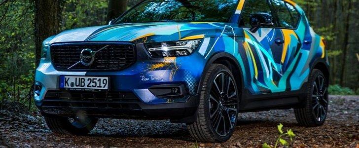 Volvo Xc40 Graffiti Art Car Has Paint That Reacts To Sound Autoevolution