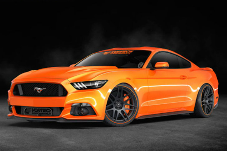 vortech prepares an orange 2015 ford mustang for sema autoevolution. Black Bedroom Furniture Sets. Home Design Ideas