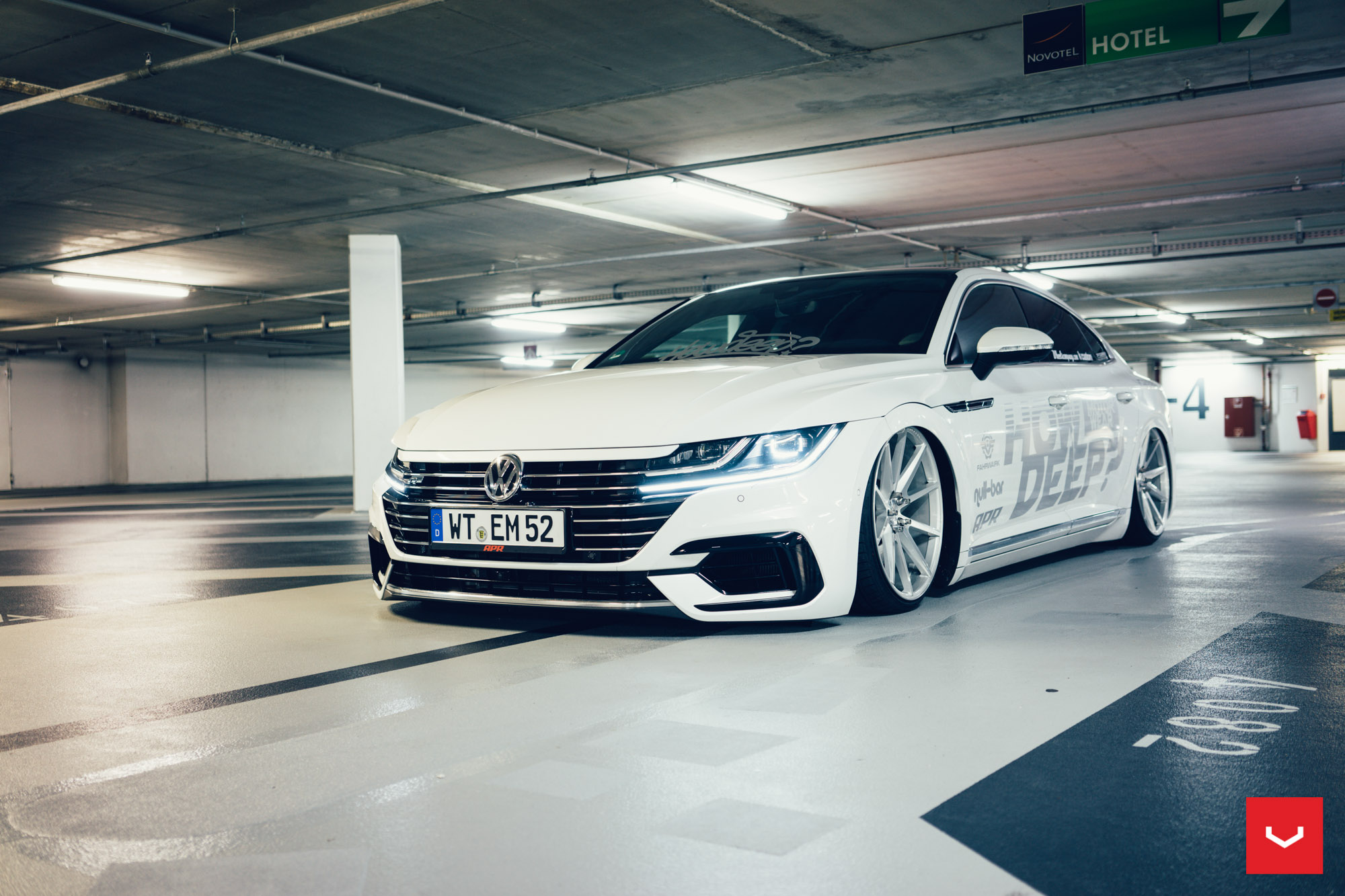 Vw Arteon By How Deep Rides On Vossen Wheels Autoevolution