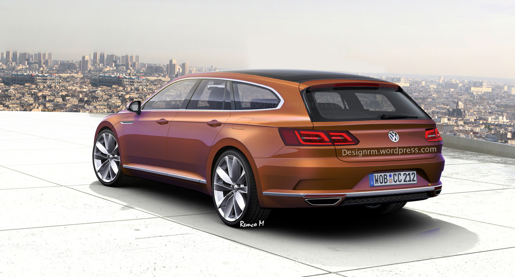 vw arteon shooting brake might happen not inspired by cls class obviously autoevolution. Black Bedroom Furniture Sets. Home Design Ideas