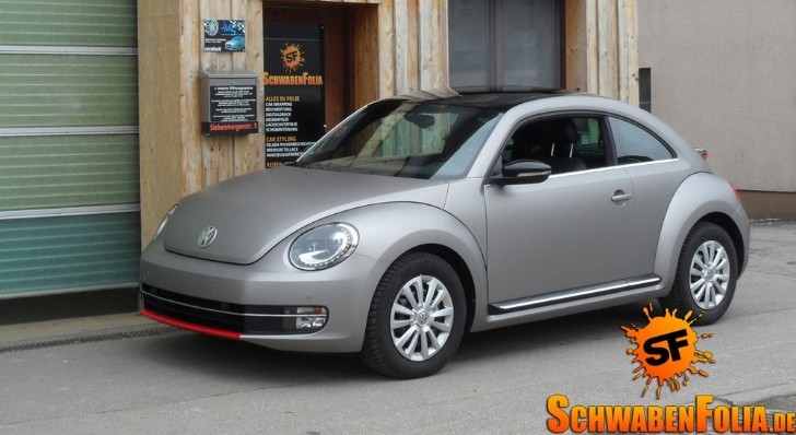 VW Beetle Coupe Wrapped in Frozen Gray [Photo Gallery]