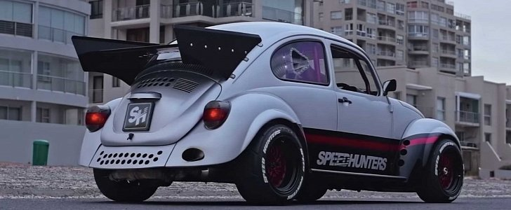 VW Beetle Dragster Has Subaru EJ20 Engine, Is no Love Bug