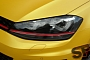 VW Golf 7 GTI Gets Sunflower Matte Metallic Wrap [Photo Gallery]