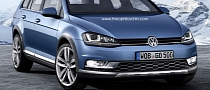 VW Golf Alltrack Rendering