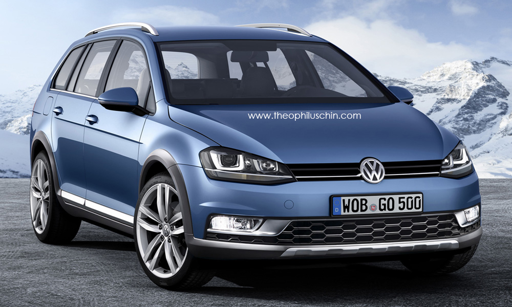 vw golf alltrack rendering autoevolution. Black Bedroom Furniture Sets. Home Design Ideas