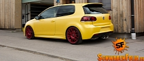 VW Golf R Gets Awesome Sunflower Yellow Wrap [Photo Gallery]