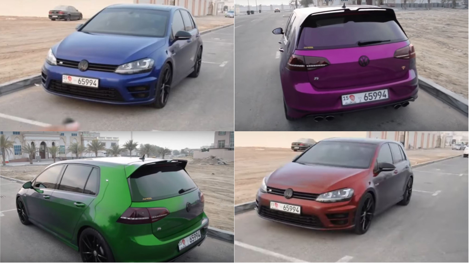 Vw Golf R That Changes Color Is Obviously Fake