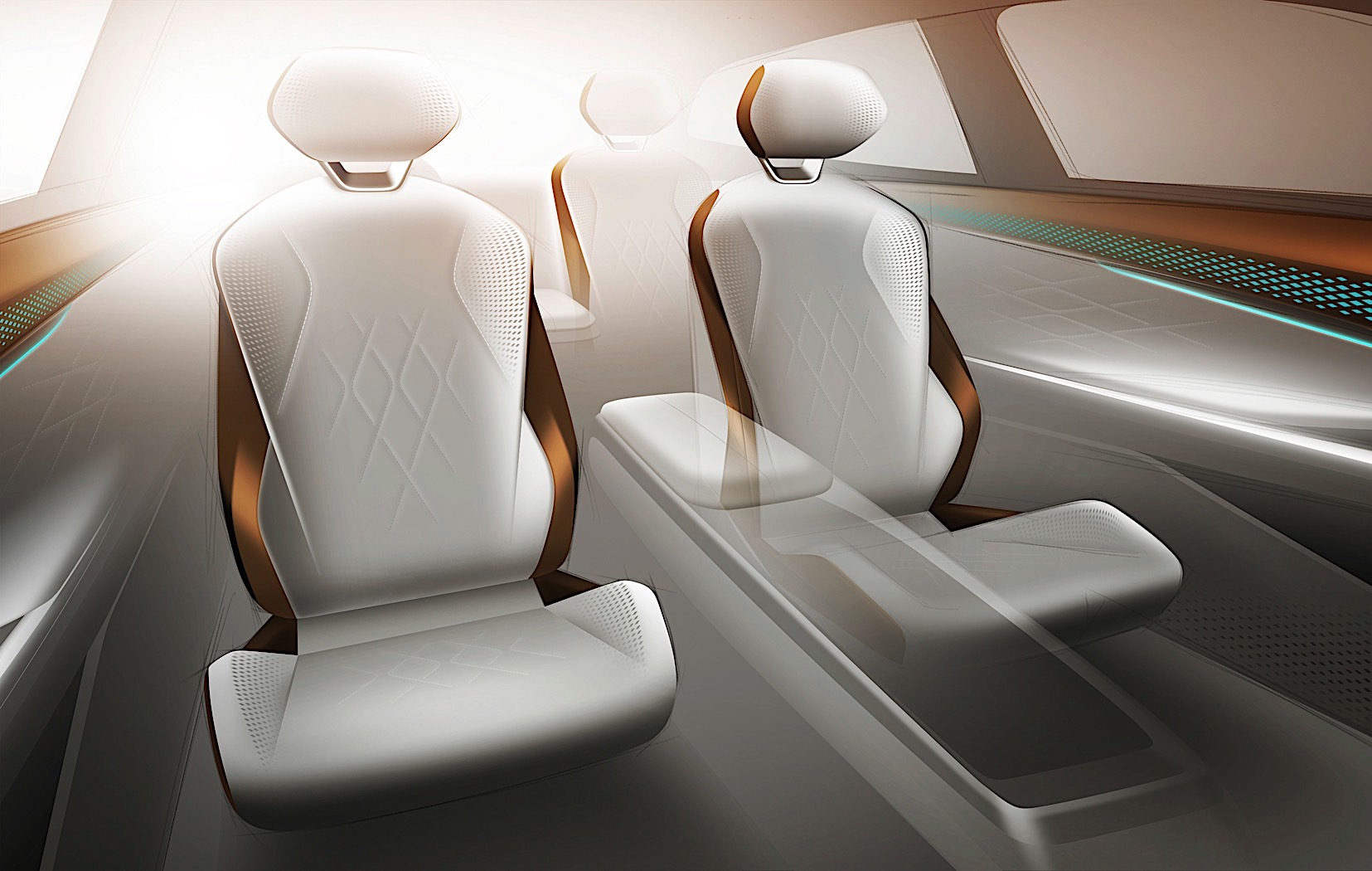 Vw Id  Space Vizzion Concept Interior Is Wrapped In Apple