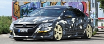 VW Passat CC Gets Camouflage Wrap and Tech Tuning from KBR Motorsport