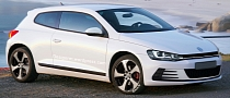 VW Scirocco Facelift Imagined with Golf 7 GTI Front End
