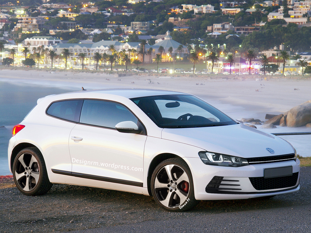 vw scirocco facelift imagined with golf 7 gti front end autoevolution. Black Bedroom Furniture Sets. Home Design Ideas