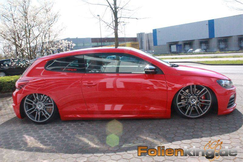 Vw scirocco on bentley wheels is a show stopper autoevolution