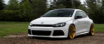 VW Scirocco R Slammed on Vossen Wheels [Photo Gallery]