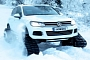 VW Snowared: What You Call a Touareg with Tracks