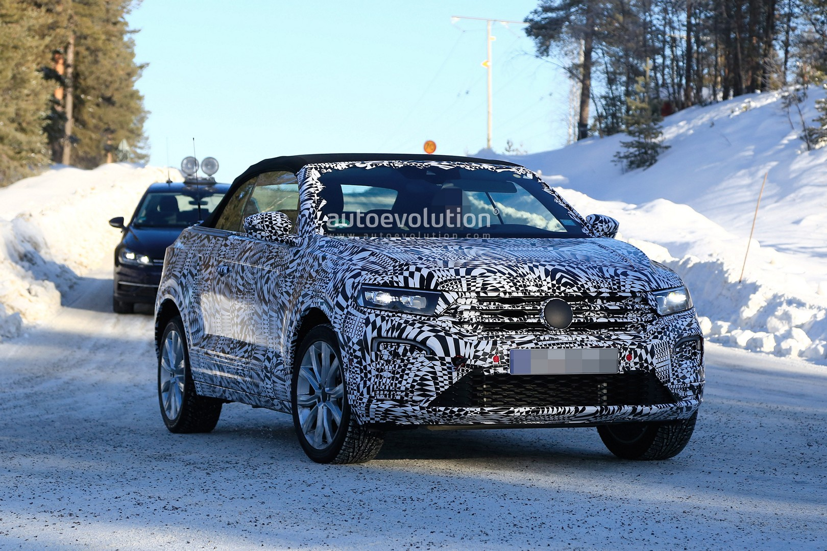 Vw T Roc Cabrio Caught Cold Weather Testing In Scandinavia