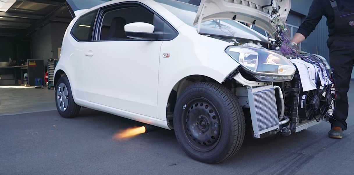 VW Up! Gets Audi TT 1 8T Engine with Flaming Exhaust, Aims for 400