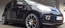 VW Up Rides on 17-inch Tomason Wheels