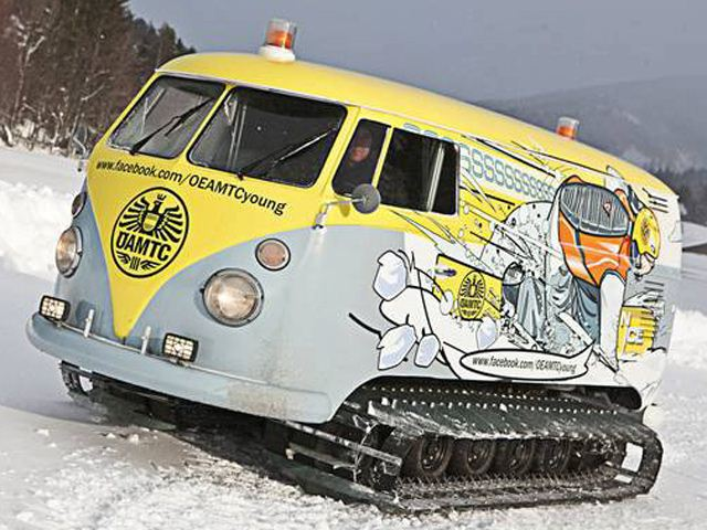 VW Van Turned into Tank-Tracked Party House [Video][Photo Gallery]