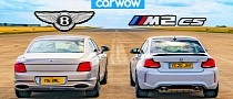 W12 Bentley Flying Spur Drag Races Rascally BMW M2 CS, Puts in Its Place