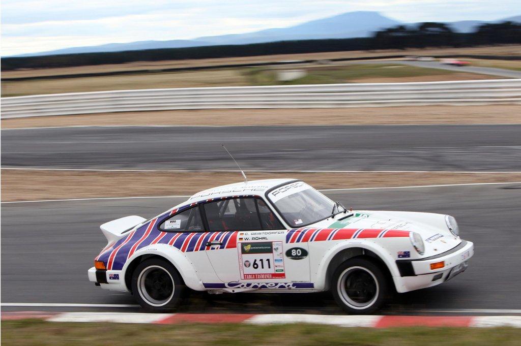 Walter Rohrl, Christian Geistdorfer and Porsche 911 Back for Targa