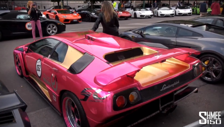 Watch 350 Lamborghinis Line Up for Brand Anniversary [Video]