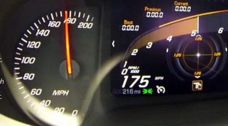 Watch a 2014 Corvette Stingray Standing Mile Run [Video]