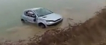 Watch a Car Perform a Forced Landing into the Water [Video]