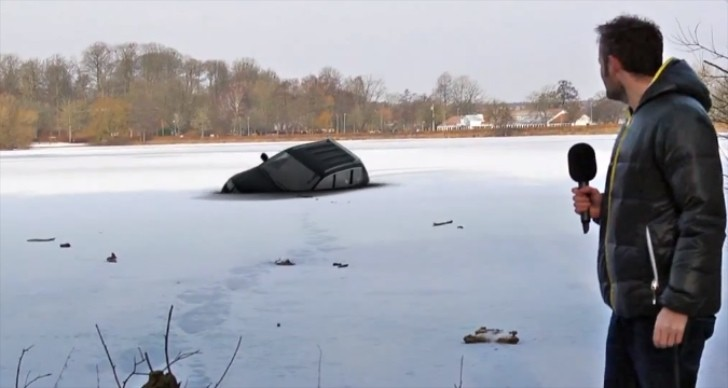 Watch a Fake VW Touareg Falling Through Ice on Live TV [Video]