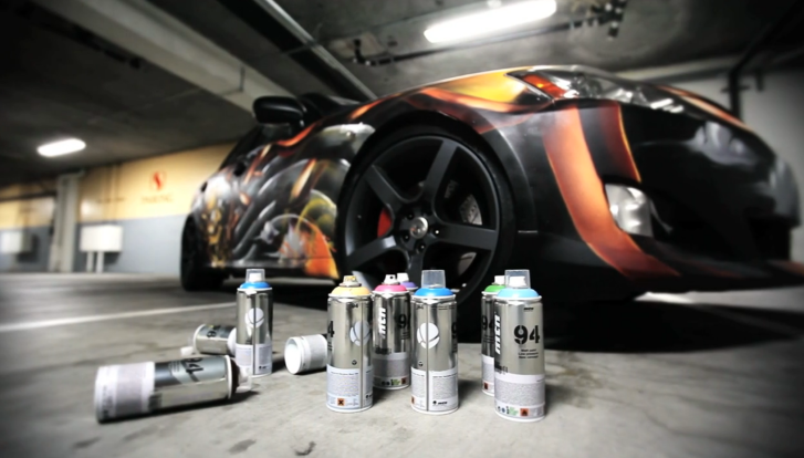 Watch a Graffiti-Finished Lexus IS 350 [Video]