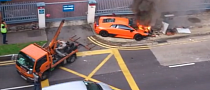 Watch a Lamborghini Murcielago Slowly Catch Fire [Video]