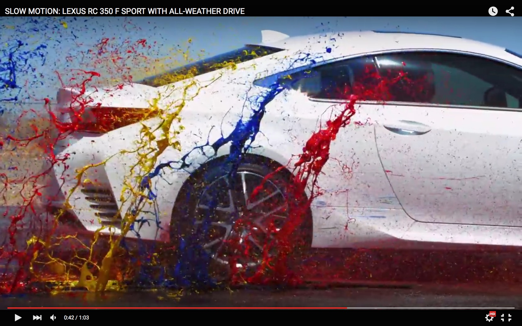 watch a lexus rc350 f sport create a rainbow of paint in slow motion autoevolution. Black Bedroom Furniture Sets. Home Design Ideas
