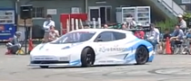 Watch a Nissan Leaf Race Car Do Electric Donuts [Video]