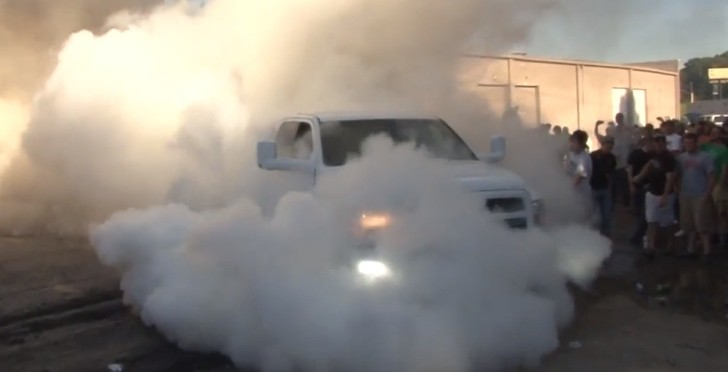 Watch a Ram Pickup Perform a Monster 4X4 Burnout [Video]